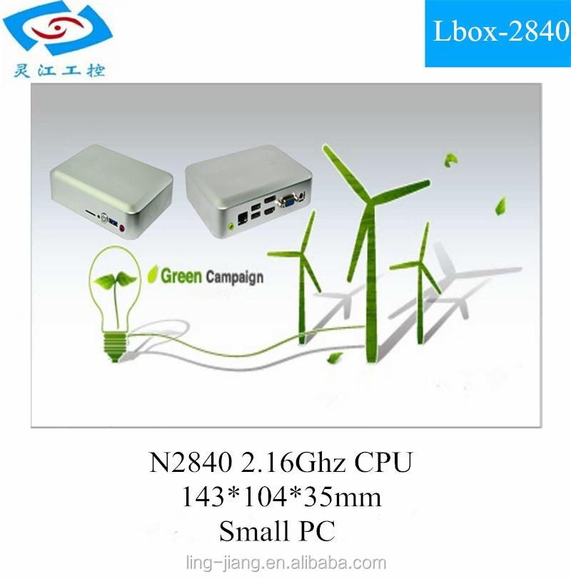 Fanless embedded mini industrial pc with celeron N2840 CPU