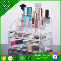 Acrylic Makeup Cosmetic Jewelry Organizer Clear 4 Drawers Display Box Storage