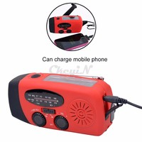 New Portable Solar Radio Hand Crank Self Powered Phone Charger LED Flashlight AM/FM Radio Emergency Survival Multi- Founctions