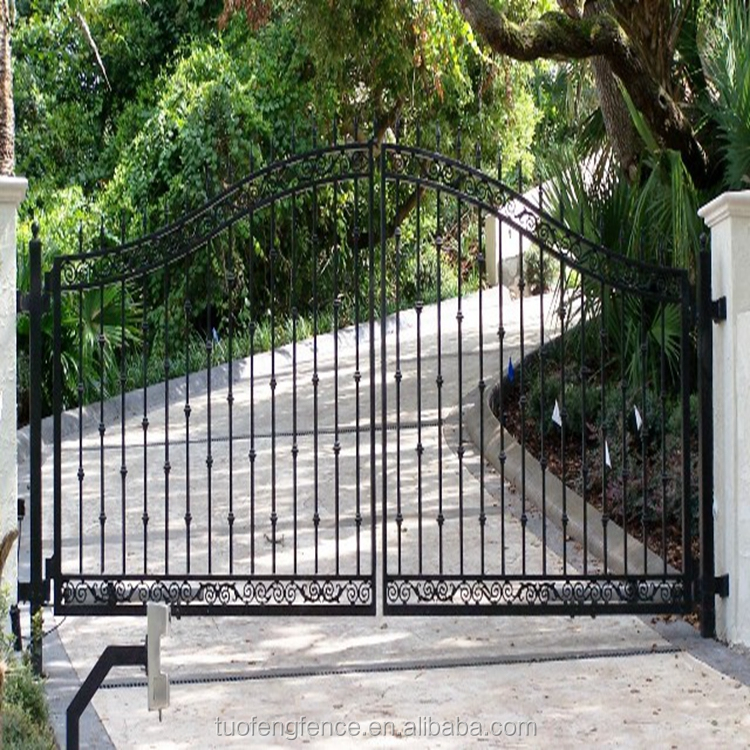 Customized Residential estate gate Modern metal gates and steel fence gate design