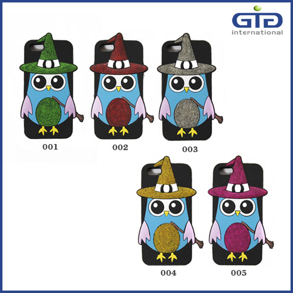 [GGIT] 2016 New 3D Cute Owl Spice Mobile Phone Silicon Case Cover for iphone 5