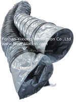 grey Fire resistant flexible duct,PVC flex air duct