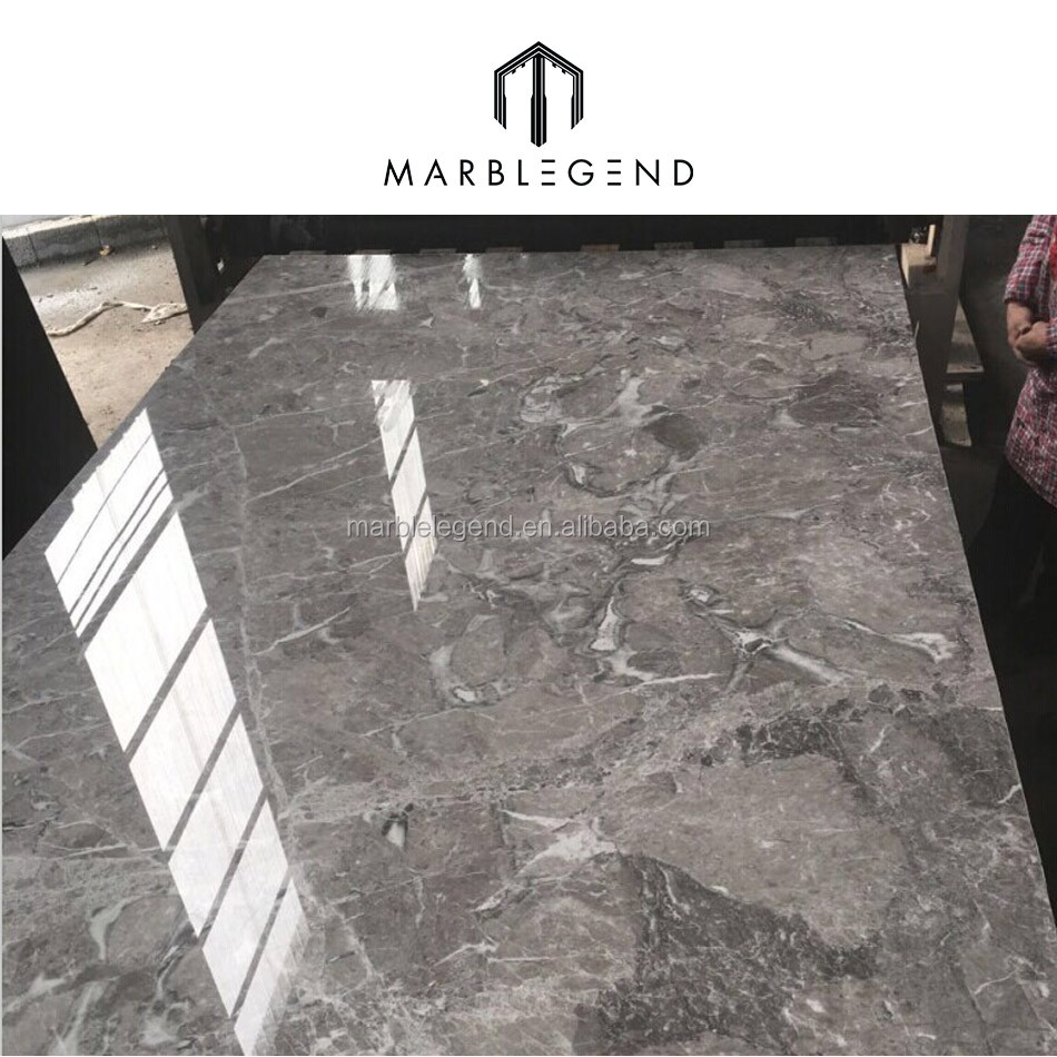 Customized Dimension Athena Grey Marble Tile