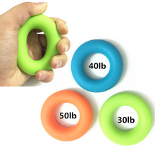 Arm gym silicone rubber hand grip strengthener,hand grip ring,hand grip