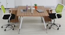 2014 High end 2-person wood bench system office desk - WT02