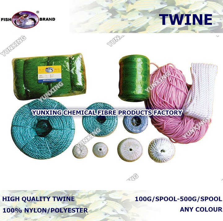 color pe/nylon/polyester fishing twine rope