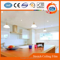 fashionable interior decorative colorful pvc false ceiling fire rated membrane