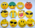Factory Wholesale Emoji Face Smile Face Fridge Magnet Refrigerator Magnet in Various Materials