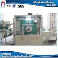 Automatic plastic tube silk screen printing machine with stacker and UV drying function