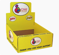 Corrugated paper counter display box
