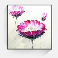 JC Factory Direct Sale Home Decoration Living Room Colors Flower Group Canvas Oil Painting FLO-31B