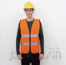 100% polyester Hivis orange reflective <strong>safety</strong> vest