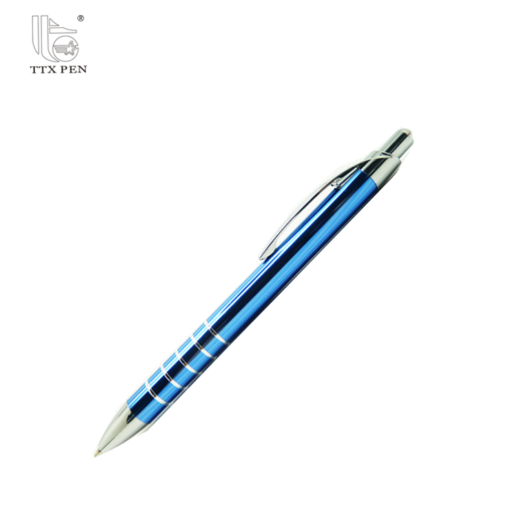 2017 Hot Promotion red metal detectable ball pen engrave pen in high quality