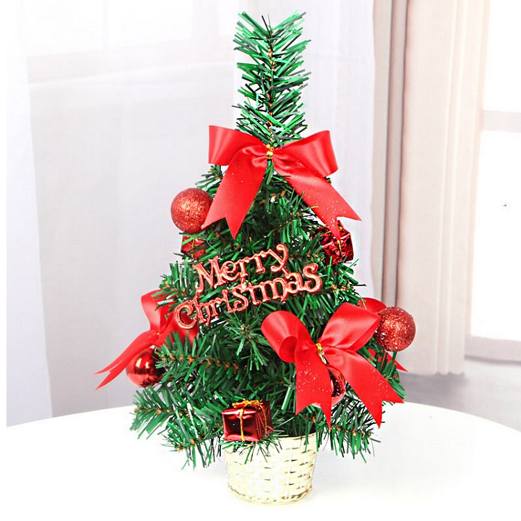 Artificial Flower pot style small mini Christmas tree with cheap price