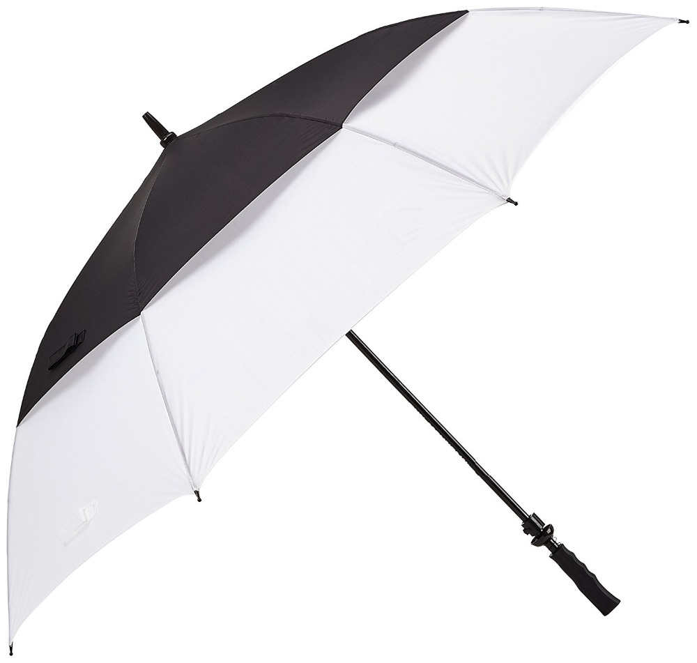 Chinese imports wholesale strong windproof golf umbrella with double canopy layers