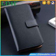 Luxury Retro Real Genuine Leather Wallet Case for Samsung Galaxy SIV Mini i9190 Stand Flip Phone Accessories Cover for S4 Mini