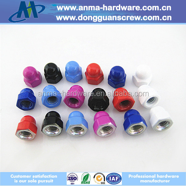 Top selling high-quality M4 cap nut/stainless steel hexagon cap nut/wheel nut cap