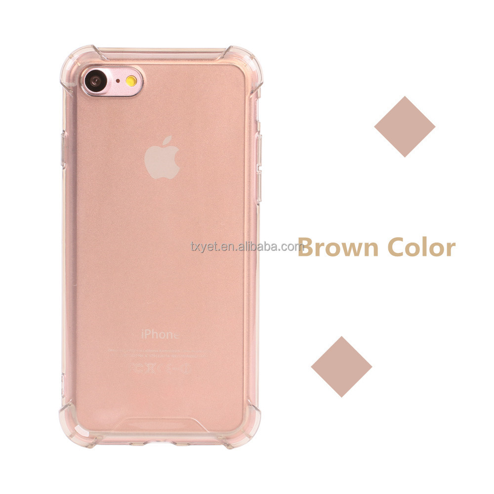 clear anti shock soft silicone rubber tpu wholesale cell phone case for iPhone 7 crystal transparent gel skin for iphone7 case