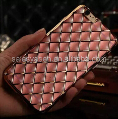 Luxury Gold Bling Glitter Diamond Soft electroplating tpu case For iPhone 6 for iPhone 6 plus Silicone Back Cover