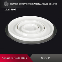 Combination round plate with tray ceramic porcelain separable round dish set