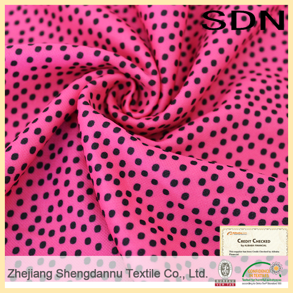 Alibaba china supplier poly silk print fabric