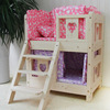 China wholesale elegantly designed two layers wooden dog bed deluxe wooden dog house