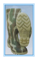 Anti skidding pvc 909 camouflage protective boots factory manufacturer