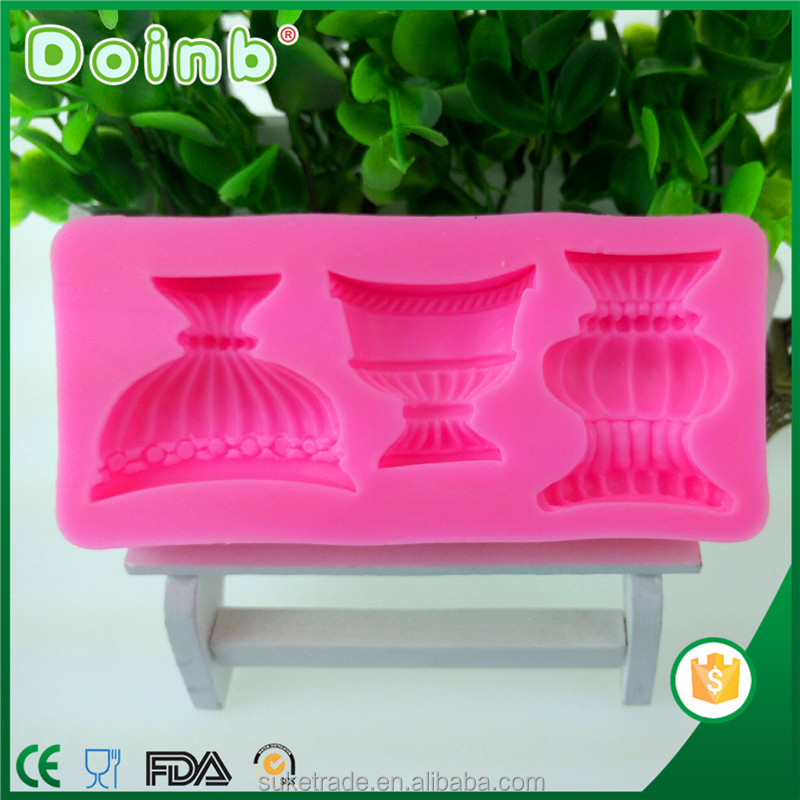 Doinb lantern shaped silicone fondant moud cake decorating mold