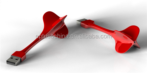 arrow shape pvc custom usb flash drive