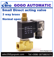 Brass normal close/normal open 3 way push button water valve