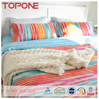 New design pretty elegant lovely rainbow 100% cotton colorful used bedsheets