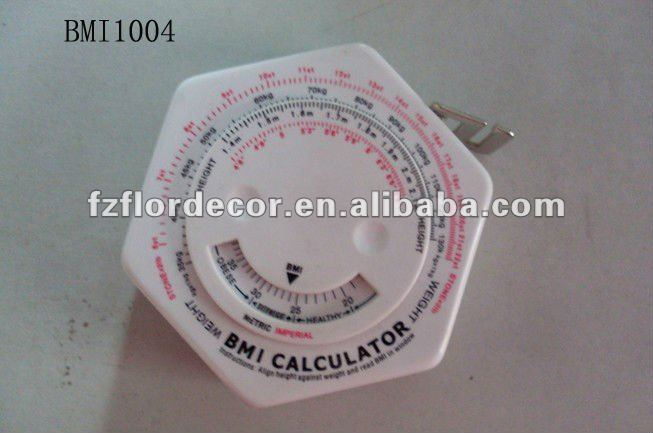 Promotion BMI Ruler,diamond shape tape measure BMI1004