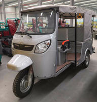 6 Passenger Seat Tuk Tuk 3 Wheel Motorcycle / Gasoline Bike Taxi with Accessory