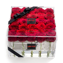 Customized Clear Acrylic Luxury Rose 25 Holes Flower Gift Box with Lid