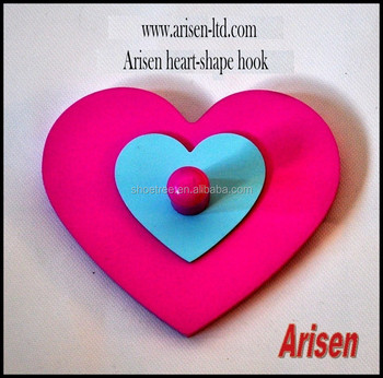 Arisen pink & blue heart-shape wall hook