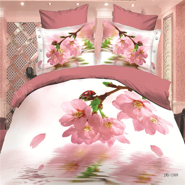 3d home textile Lastest design 3D bedding set new bed <strong>sheet</strong> design