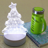 For Indian Agents LED Christmas Gift 3D Prints Led Light Nightlight 3D LED Light For Gift Lamp With Package Wholesale 5 Cartons
