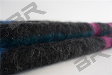 yarn dyed acrylic polyester blend mohair wool fabric for winter coat