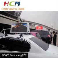 hotsale xxx video advertising screens mobile led car top sign