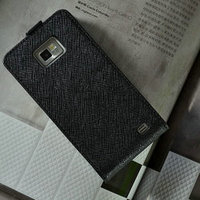 Wholesale best selling products elegant design high quality flip geniue leather cell phone case for samsung galaxy s2