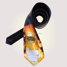 Full Color 3D Printing Fashion Silk Neck Ties for Men
