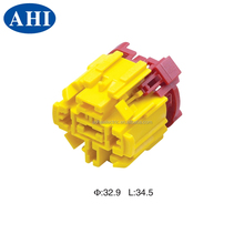 989471014 6.3 series 5 pin female plastic yellow plug and socket housing connector
