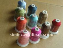 100% multi color 1000m 120D/2 polyester embroidery thread