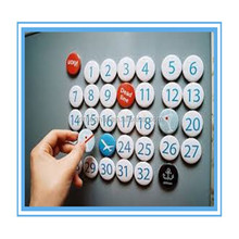 Souvenir resin fridge magnet with words