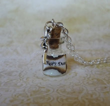 white Fairy Dust Necklace white Pixie Dust Fantasy Jewelry Fairy Charm Glass Bottle Pendant