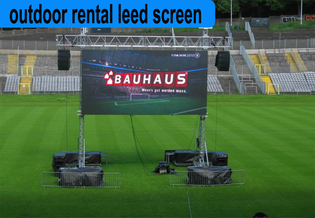 Super Quality New Item p4.81 outdoor full color rental led display