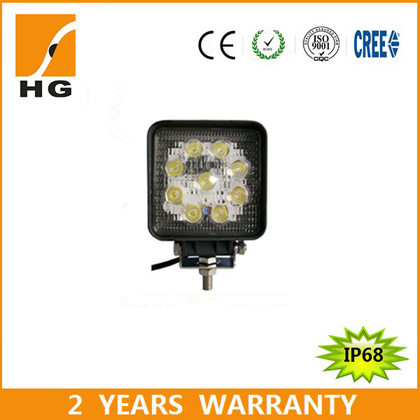 4.3inch bus headlight 27w led work light led car motorcycle lamp