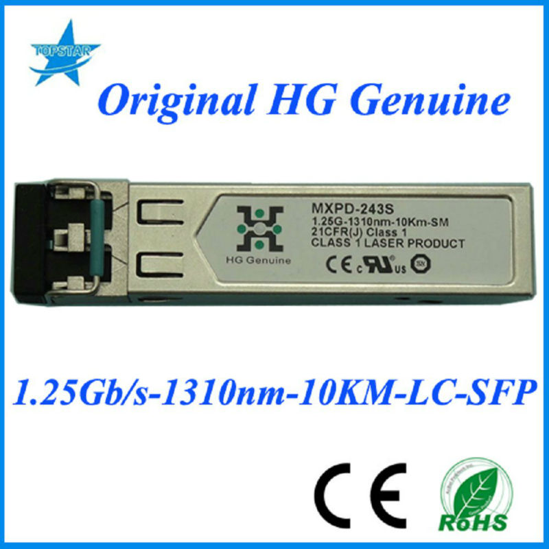 MXPD-243S HG Genuine 1.25G-1310nm-10km OPTICAL TRANSCEIVER SFP FIBER MODULE nano transceiver