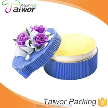 Fashional designed special paper made blue pink party favor boxes