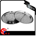 Stainless steel Thai type serving dish/round food serving tray